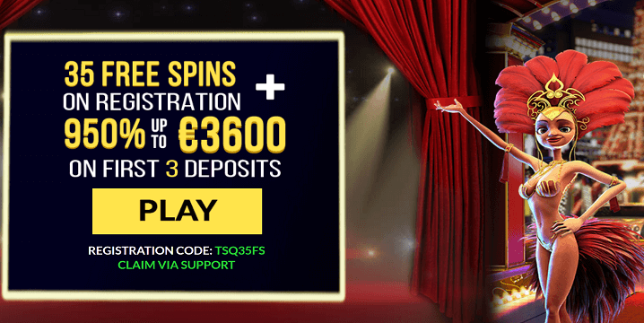 Exclusive 35 Free Spins and €3600 in Bonuses