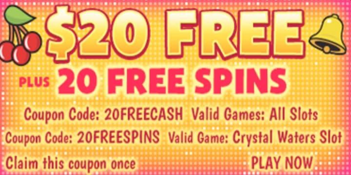 SlotsPlus Casino: $20 Bonus + 20 Free Spins