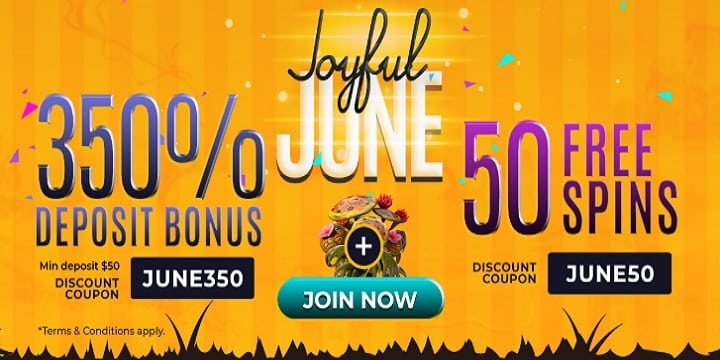 Slots7Casino: Joyful June Promotion