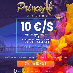 PrinceAli Casino Bonus And Review